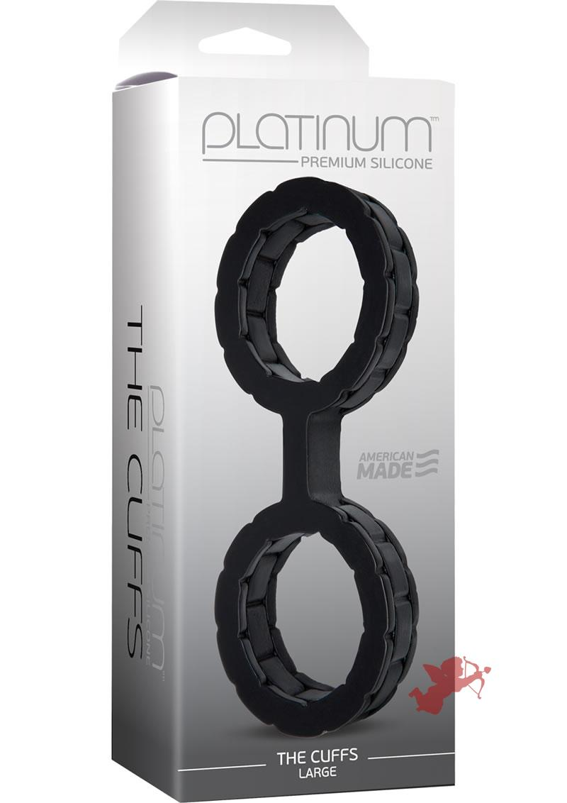 Platinum Premium Silicone The Cuffs Black Large