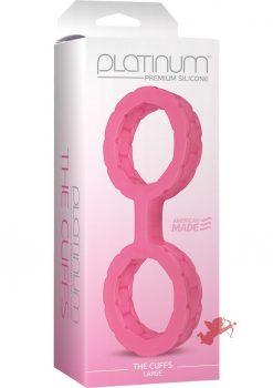Platinum Premium Silicone The Cuffs Pink Large