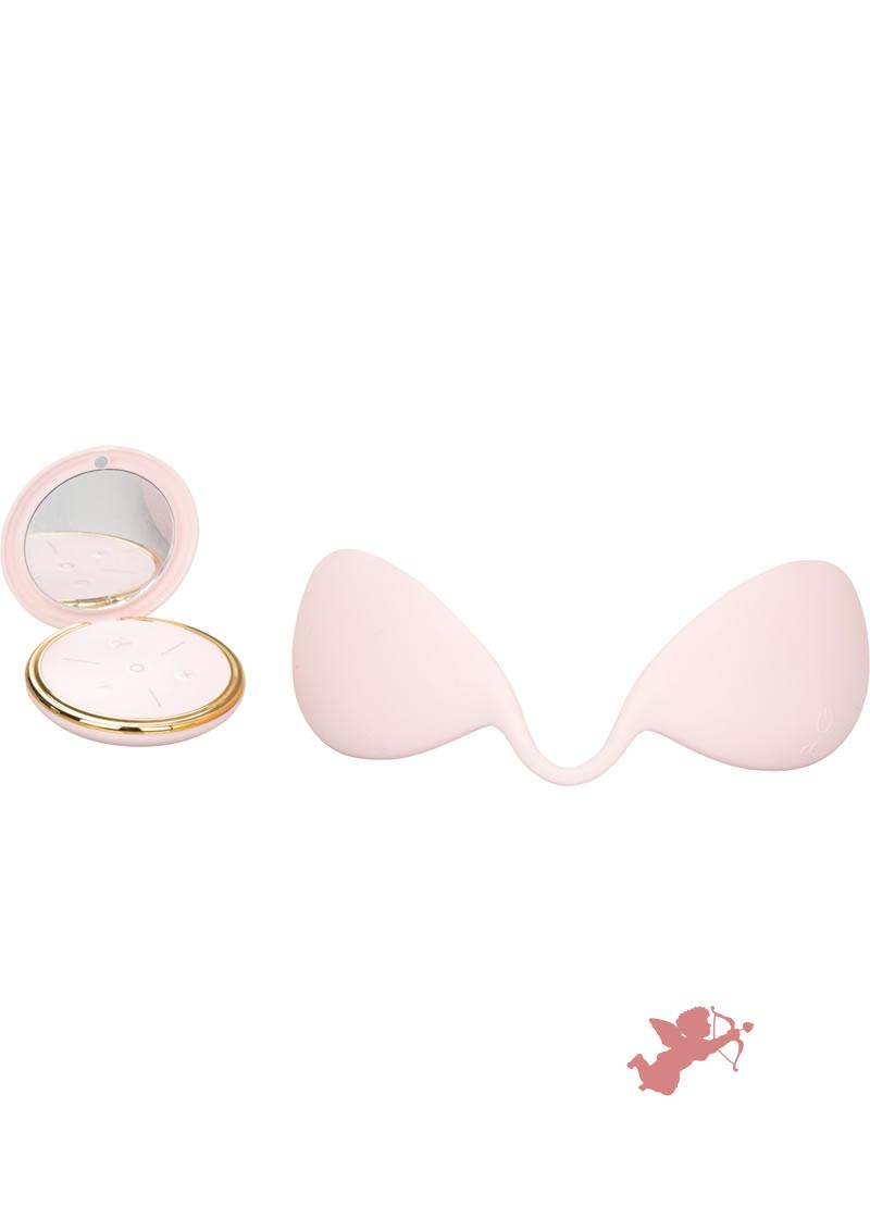 Inspire Vibrating Remote Breast MAssager Pink
