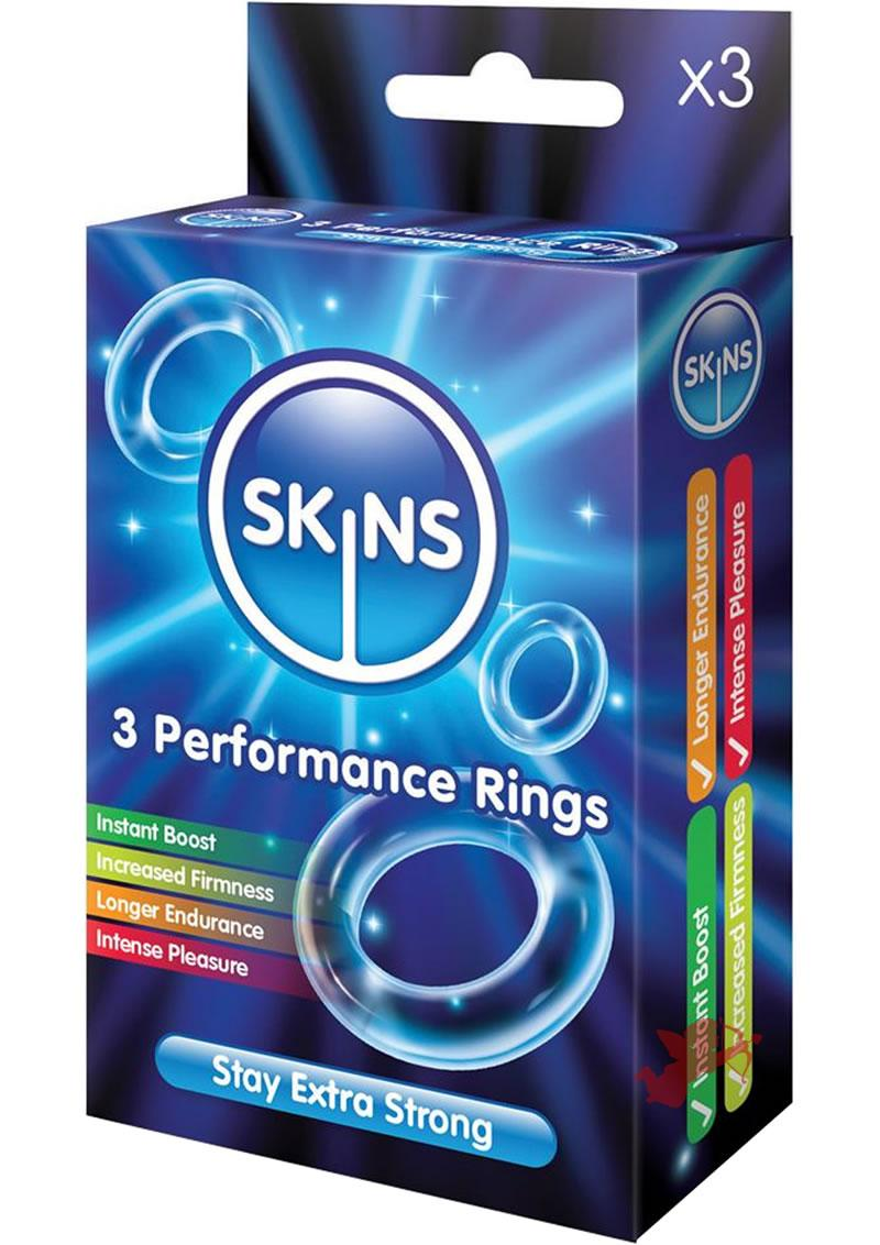 Skins Performance Ring Clear 3 Pack
