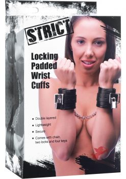 Strict Locking Padded Wrist Cuffs & Chains