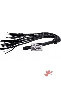 Strict 8 Tail Braided Flogger Black 32 Inch Long