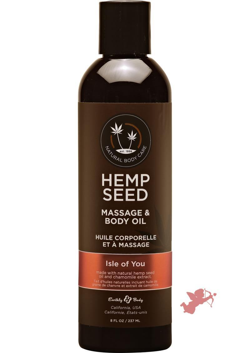 Hemp Massage Oil Isle Of You 8oz