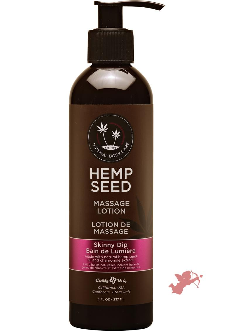Hemp Seed Massage Lotion 100% Vegan Skinny Dip 8 Ounce