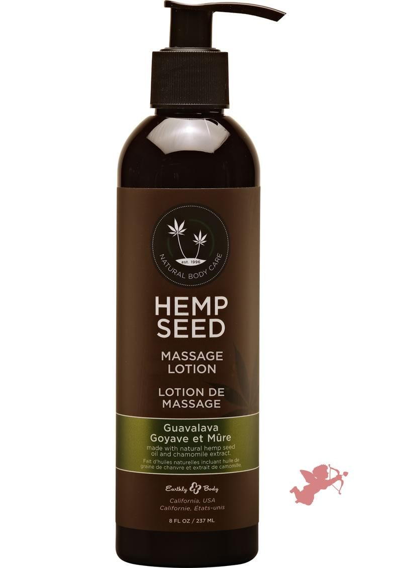 Hemp Seed Massage Lotion 100% Vegan Guavalava 8 Ounce