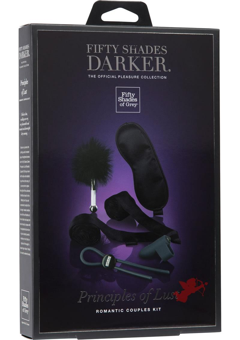 Fifty Shades Darker Principles Of Lust Romantic Couples Kit Black