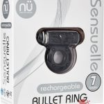 Sensuelle Bullet Ring 7 Function Cring Black
