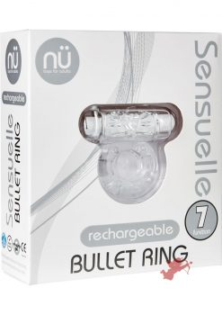 Sensuelle Bullet Ring 7 Function Cring Clear