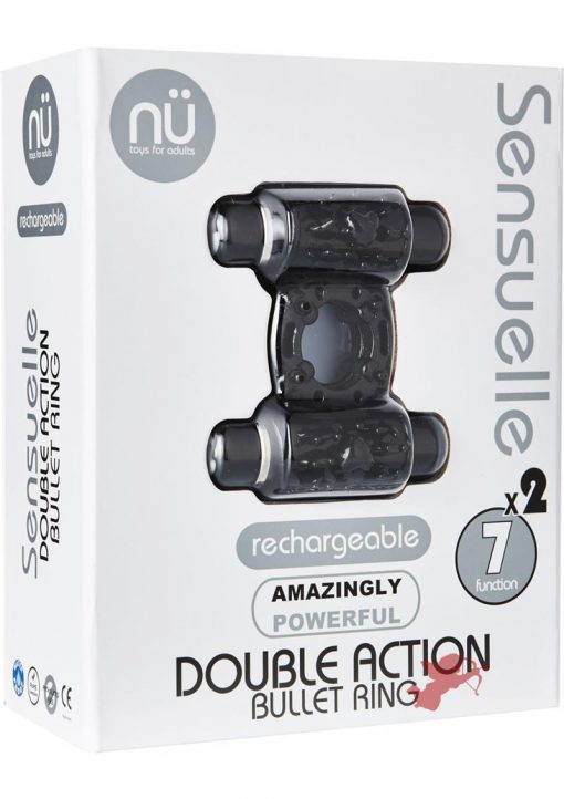 Sensuelle Double Action 2x7 Function Cring Black