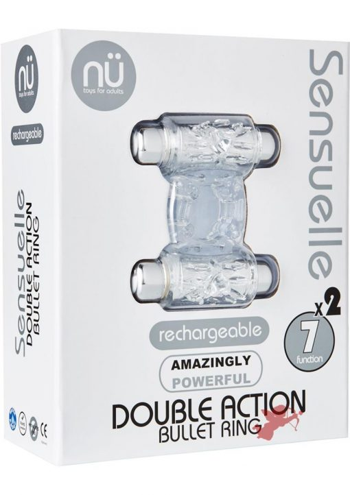 Sensuelle Double Action 2x7 Function Cring Clear