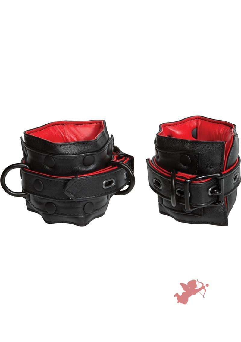 Leather Submissive Ankle Restraints