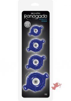 Renegade Vitality Rings Blue 4 Set