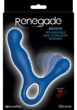 Renegade Revive Rechargeable Silicone Dual Stimulator Waterproof Blue
