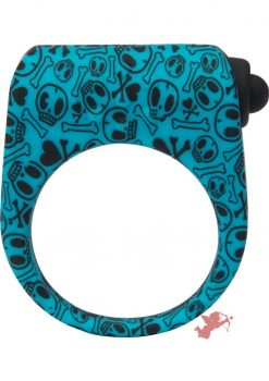 Tokidoki Wildstyle Love Ring Single Speed Silicone Cockring Ring Waterproof Blue