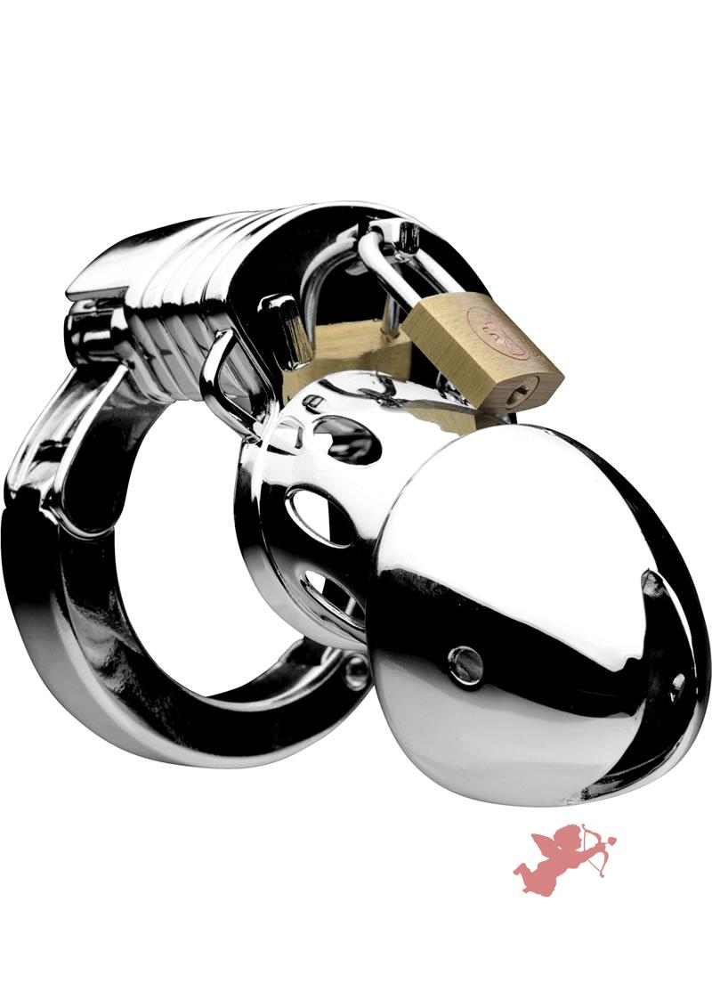 Master Series Incarcerator Adjustable Locking Chastity Cage Stainless Steel