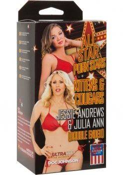All Star Porn Stars Kitten and Cougar Jessie Andrews and Julia Ann Double End Pussy Stroker