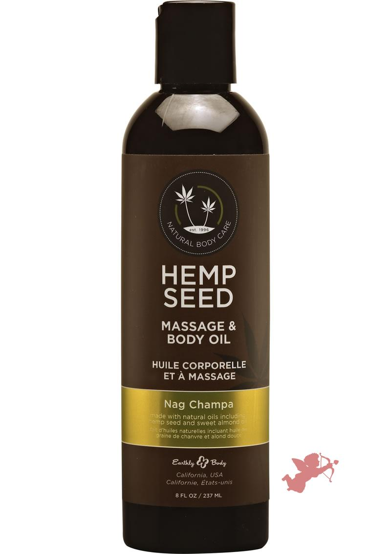 Hemp Seed Glow Oil Nag Champa 8 Oz