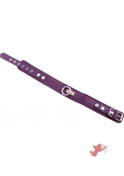 Rouge Plain Leather Collar Purple