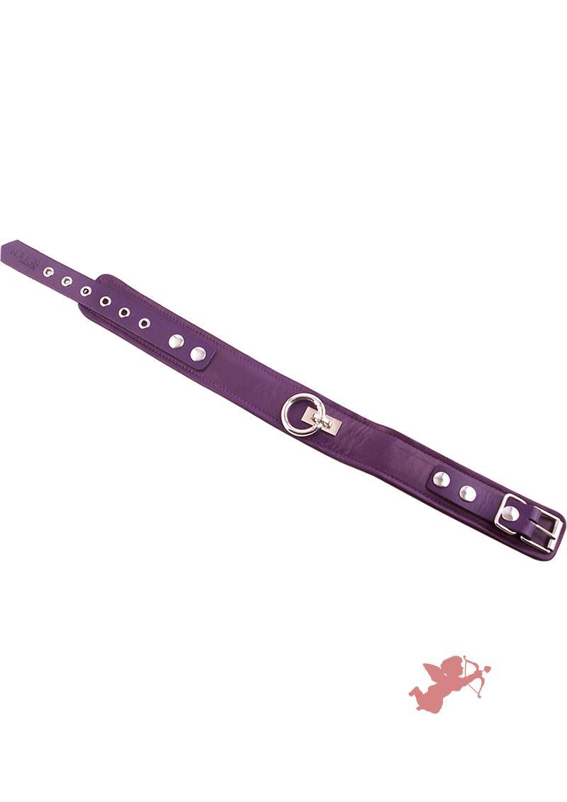 Rouge Plain Leather Collar Purple