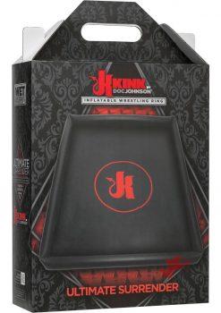 Kink Wet Works Ultimate Surrender Inflatable Wrestling Ring Waterproof Black 78.75 Inch By 67 Inch