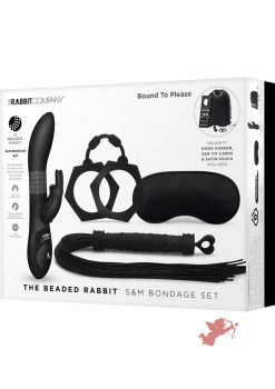 The Beaded Rabbit SandM Bondage Set Silicone Black