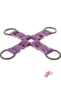 Lust Bondage Hog Tie Purple And Black