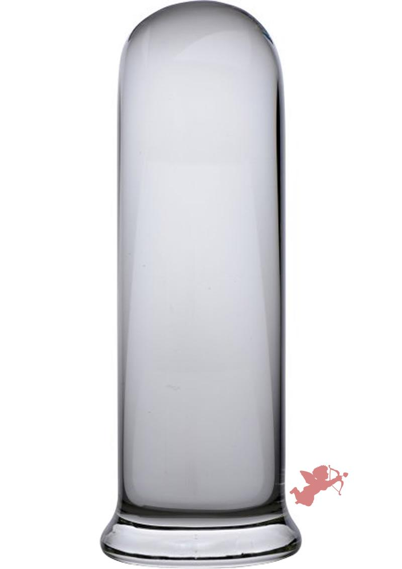 Prisms Pillar Large Cylinder Glass Plug Clear