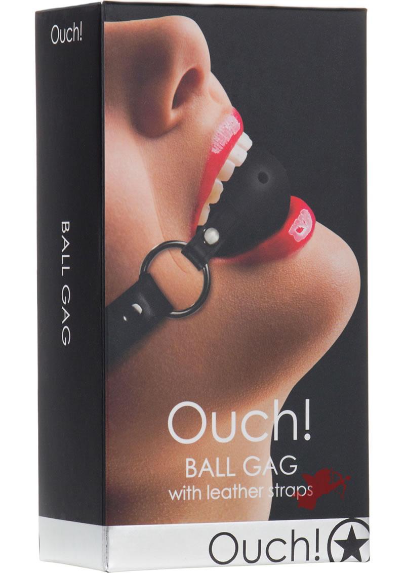 Ouch! Gag Ball Black