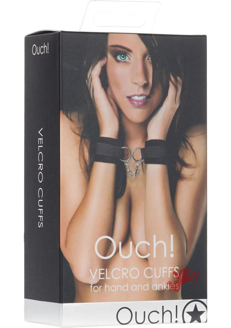 Ouch! Velcro Cuffs Black