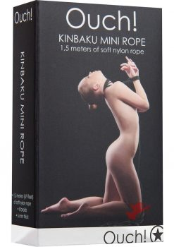 Ouch! Kinbaku Nylon Mini Rope Black 1.5 Meters