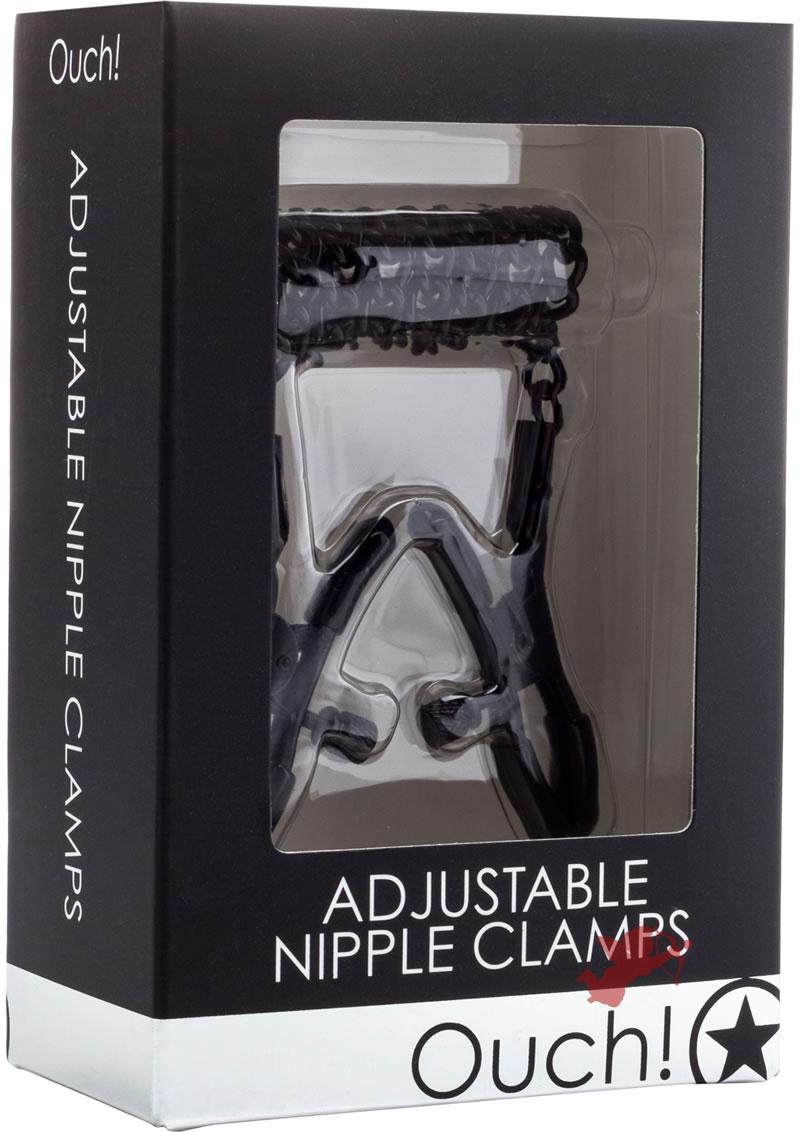 Ouch Adjustable Nipple Clamps Black