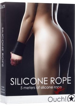 Ouch! Silicone Rope Black 5 Meters