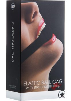 Ouch Elastic Ball Gag With Stretchable Strap Black