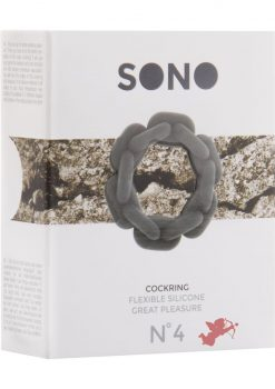 Sono No 4 Silicone Cockring Grey