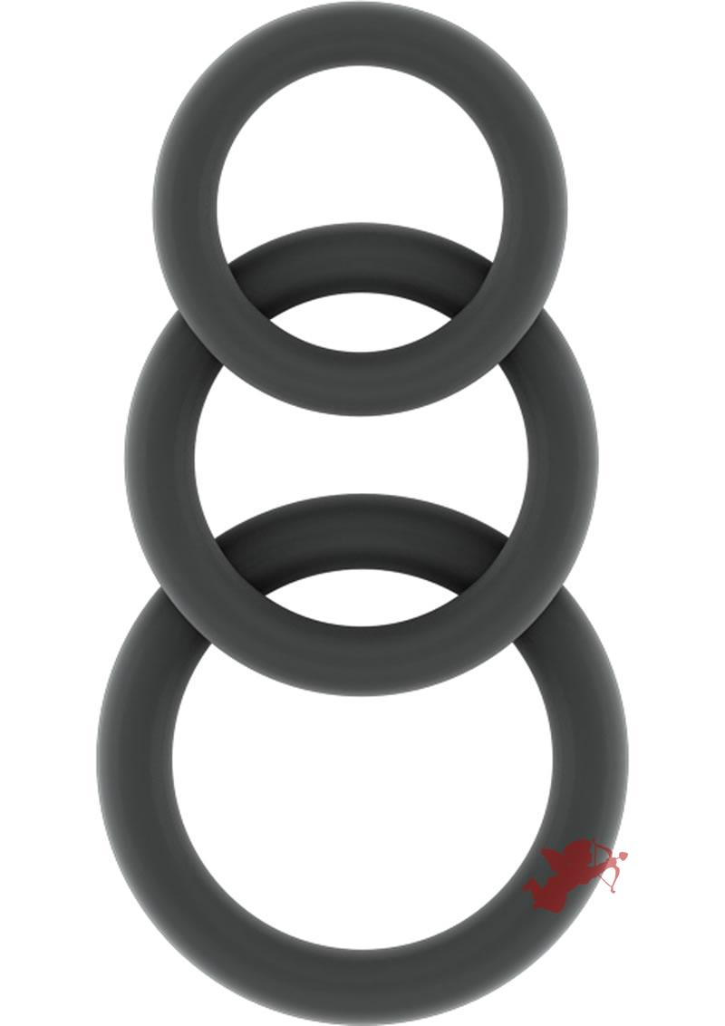 Sono No 25 Cockring Set Flexible Silicone Grey