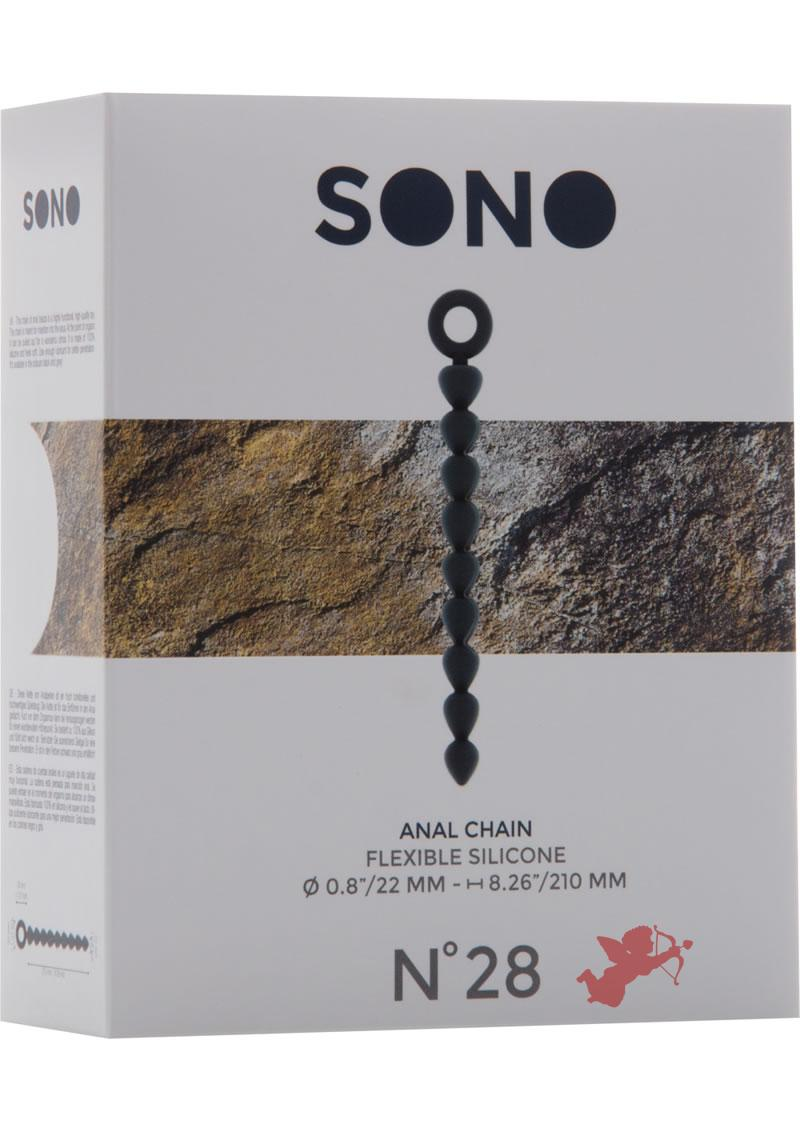 Sono No 28 Silicone Anal Chain Waterproof Grey
