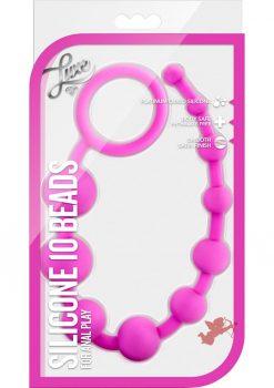 Luxe Silicone 10 Beads Fuchsia
