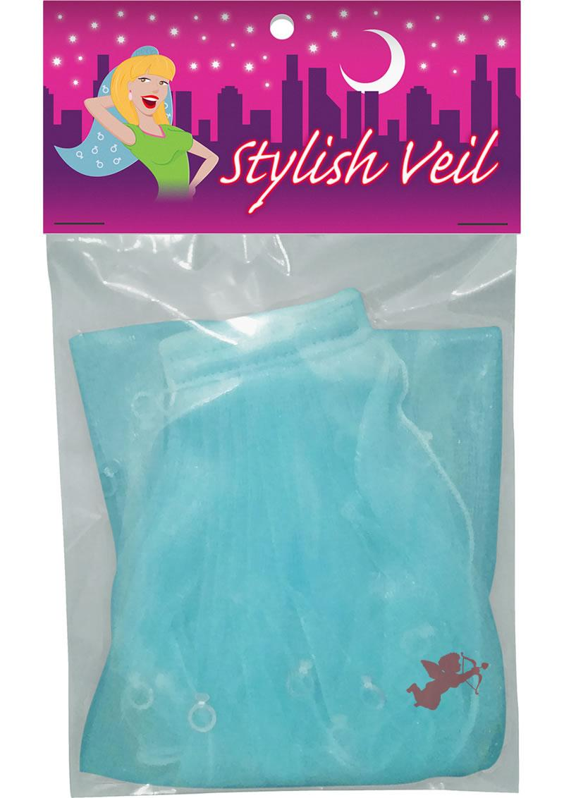 Stylish Bachelorette Veil Blue