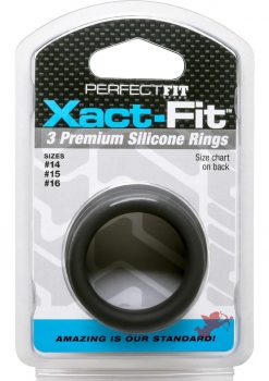 Perfect Fit Xact-Fit Premium Silicone Ring Set Small To Medium 3 Rings Per Set