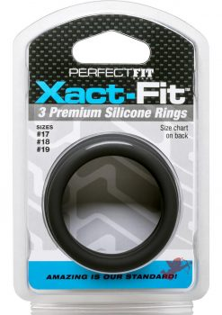Perfect Fit Xact-Fit Premium Silicone Ring Set Medium to Large 3 Rings Per Set