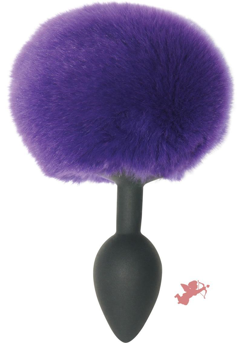 Midnight Silicone Bunny Butt Plug Black And Purple