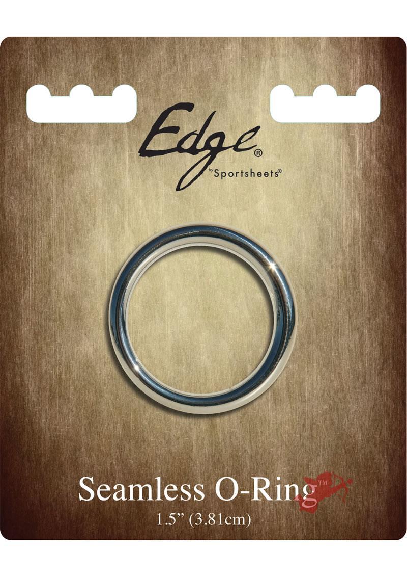 Edge Seamless O-Ring Metal Cockring Silver 1.5 Inch Diameter