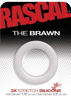 Rascal The Brawn 3x Stretch Silicone Cock Ring Clear