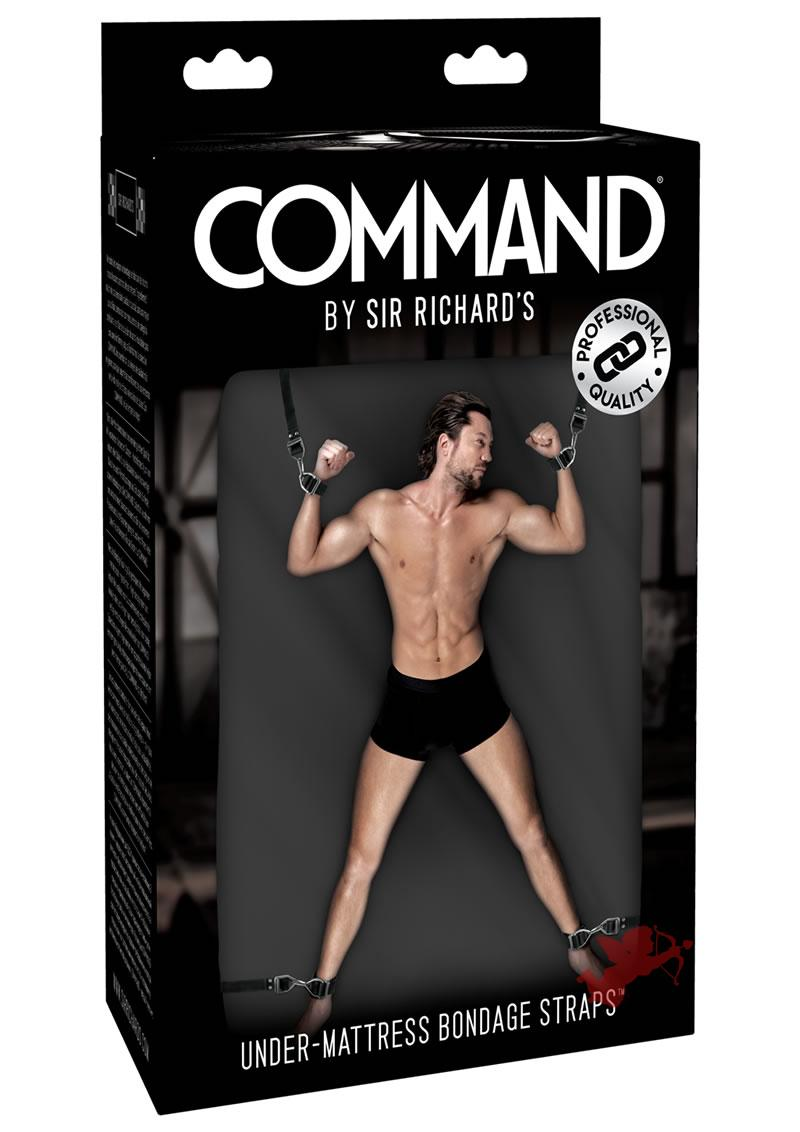 Sir Richard's Command Under Mattress Bondage Straps Black And Stainless Steel