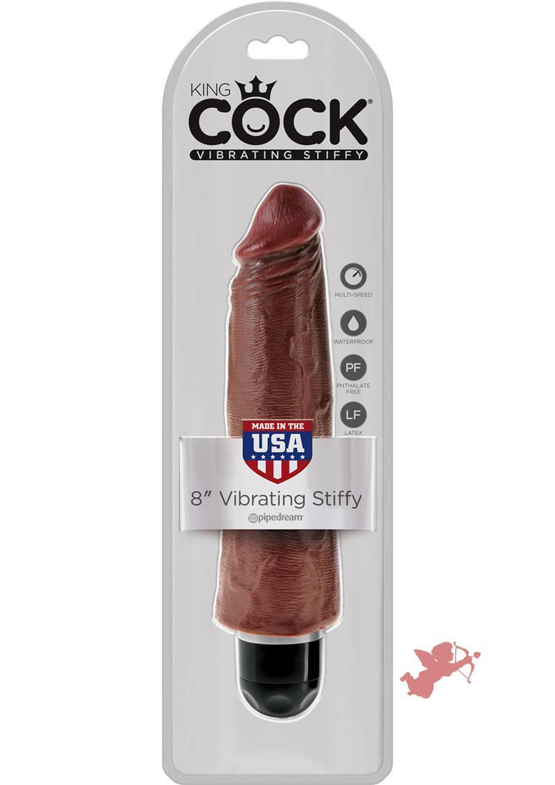 King Cock Vibrating Stiffy Brown