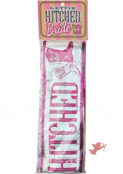 Getting Hitched Glitter Sash