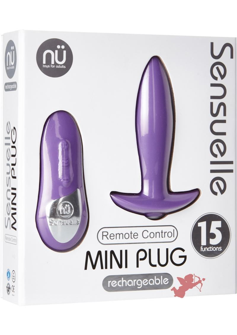 Nu Sensuelle Remote Control Mini Plug Waterproof Purple