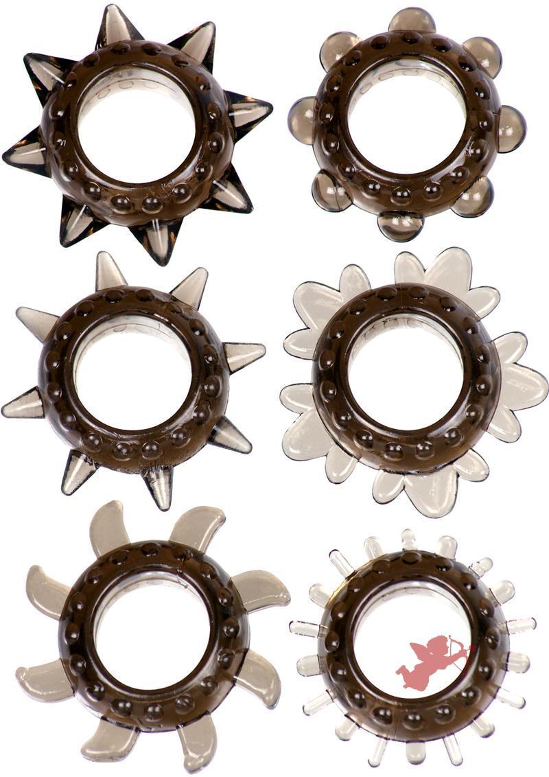 Linx Tickler Textured Ring Set 6 Pack