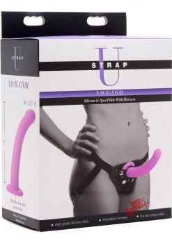 Strap U Silicone Gspot Dildo With Harness