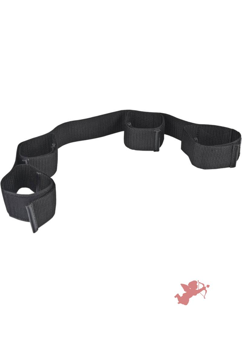 Lux Fetish Bondage Buddy Ankle And Wrist Restraints Black